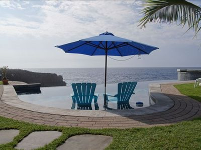Photo for Oceanfront Home with Infinity Pool and Spa 'The Cove at Milolii'