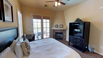 Photo for An Upstairs Legacy Villas Studio Overlooking the Community Lap Pool and BBQ!