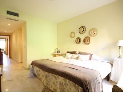 Photo for Beautiful, spacious and sunny apartment in urbanization with pool and golf course