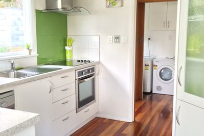 Kitchen with view to full Laundry