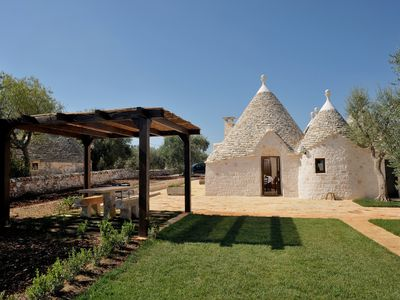 Photo for Trullo - private pool - privacy - wifi - drone tour &walkthrough video available