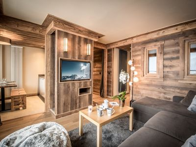 Photo for Ski in/out renoved apartment in Courchevel 1650
