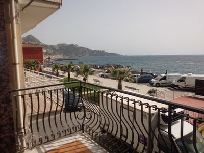 Photo for HOME ZULL Naxos center panoramic sea front apartment