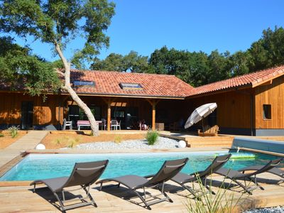 Photo for Recent villa14 + p: pool-spa-petanque, near ocean-forest-