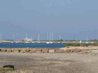 View of Hyannis Harbor from the beach