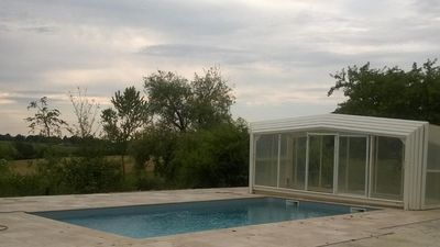Photo for Stone house near golf course with large pool capacity for April 26 and May 8