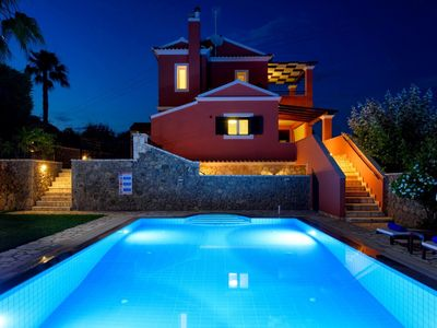 Photo for Luxury Corfu Villa | Villa Rose | Private Pool | 4 BDR | Dassia