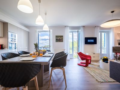 Photo for KEYWEEK Design Beachfront Apt, Heart Biarritz, Nearby Grande Plage & Casino, Pkg