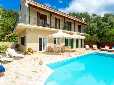 Photo for Villa Katerina: Large Private Pool, Walk to Beach, Sea Views, A/C, WiFi, Car Not Required