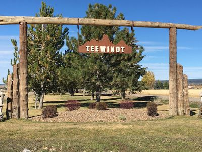 Entrance to Teewinot Subdivision.