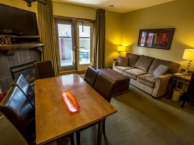 Photo for Spacious Condo in Canmore | Fireplace + Outdoor Hot Tub