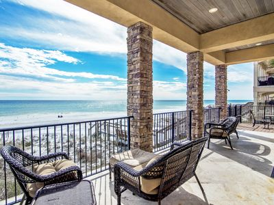 Photo for Tuscany | 7br Beach Front Luxury Home | Heated Pool & Spa | Elevator | Game Room