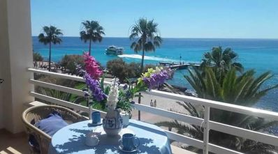 Photo for Apartment 2 bed 5 mtrs from beach  balcony overlooking sea and beach wifi lift