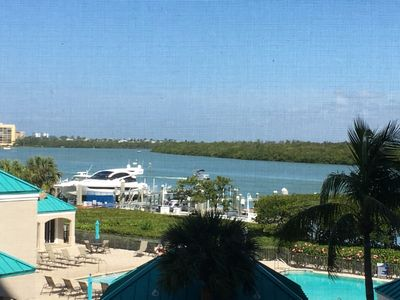 Photo for Waterside corner unit.  Gorgeous Water view of Bay-beautiful 3beds/2bath condo.