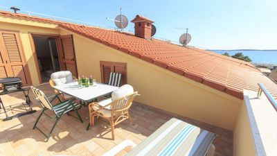 Photo for Apartment Veronika 2 with sea view, modern, very well equipped, close to the beach and the center