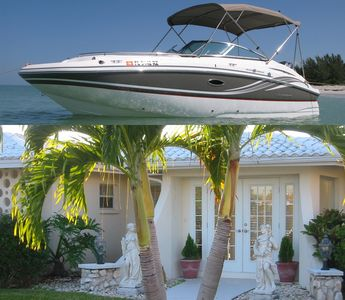 Photo for 2018 Hurricane Deck Boat included with Beautiful Yacht Club Pool Home