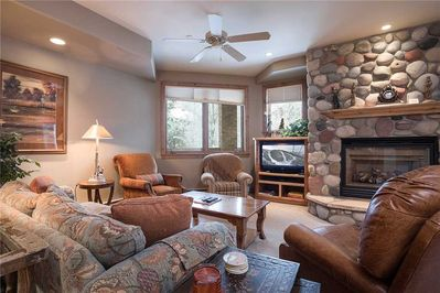 Gas Fireplace and Flat Screen