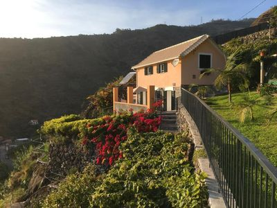 Photo for Cottage overlooking the sea and the mountains, gardens, barbecue, wifi