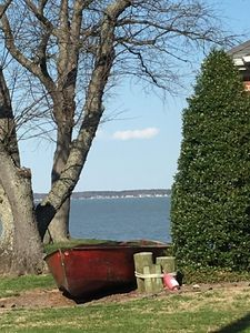 House is abt 100 yds from river. That's Maryland over there, abt 2 miles away.