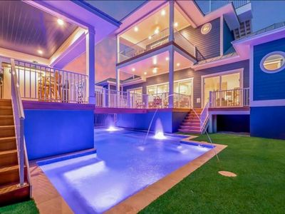 Photo for AMAZING 4 Bedroom home on the Beach Block - Roof Top Deck - Stunning Pool!!!