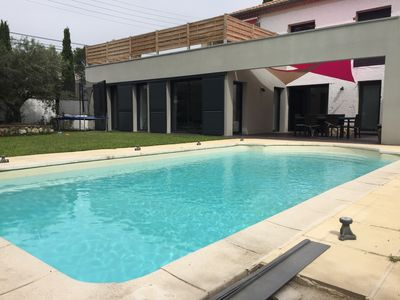 Photo for Villa for 8 people with secure pool and enclosed garden