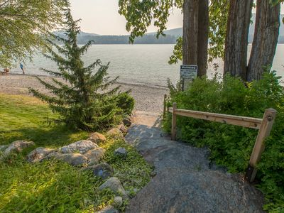 Photo for NEW LISTING! Lakefront getaway w/ shared pool, sauna, & easy lake access!
