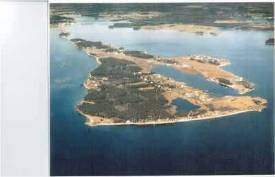 St. George Island with Property Marked by an X