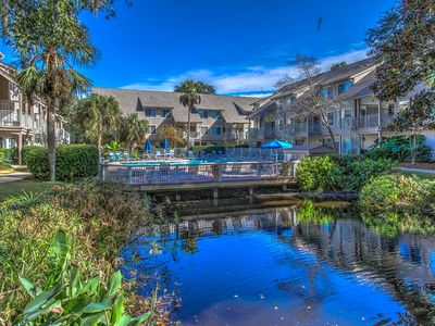 Photo for Renovated and Updated! Granite Countertops 2 BR 2 BA Lagoon and Pool Views