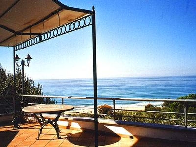 Photo for Exclusive villa, stunning 180 ° seaview, 7 terraces, 200 m from the sandy beach