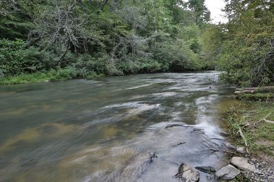 Mountaintown Creek is a trophy trout stream. Fish right in front of the house.
