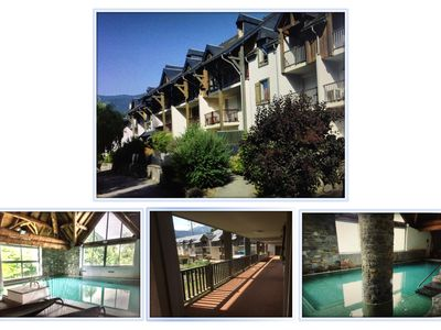 Photo for Duplex apartment 6 people - Saint Lary -Interior swimming pool