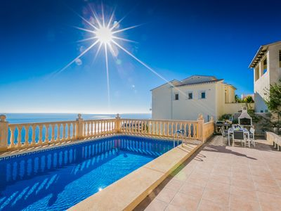 Photo for Casa Del Mar - Cumbre Del Sol - Sea view, Heated swimming pool,  air con & Wifi.