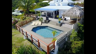 Photo for The spacious Villa Coconut magnificent view to 180 ° on the sea the rock of the Diamond