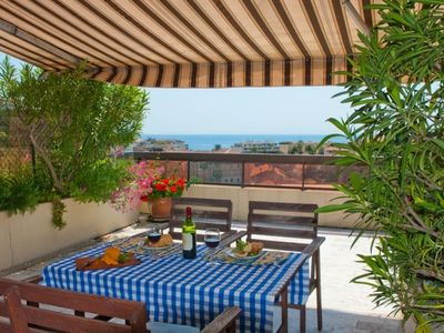 Photo for Top Floor Flat in Cannes with Large Terrace,Sea View, Parking.