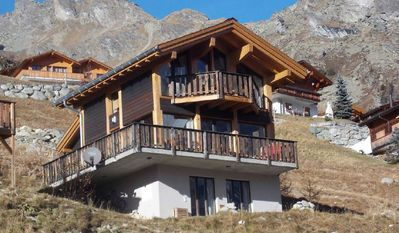Photo for Modern chalet with a magnificent mountain view in the middle of the ski and hiking area to 8. P