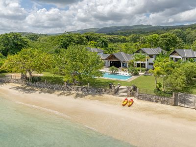 Photo for Luxurious 7 Bedroom Beachfront Villa in Old Fort Bay, St. Ann
