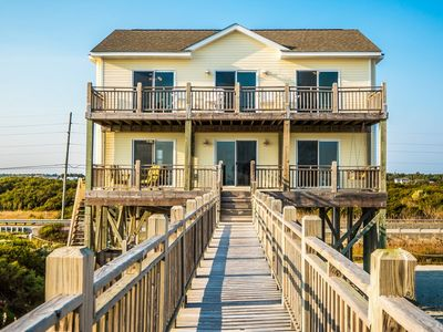 Photo for FIT TO BE TIDE: 4 BR / 3 BA oceanfront in N Topsail Beach, Sleeps 14