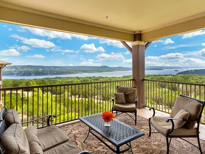 Photo for Hollows Resort Villa with Panoramic Lake & Hill Country Views