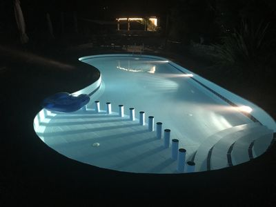 Nice night swimming!