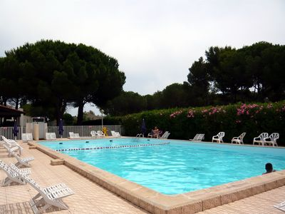 Photo for Cap d'Agde Appart 4/5 people in secure residence in the Pinewood