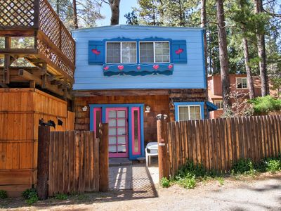 Photo for Intimate cabin for two w/a private hot tub & wood stove!