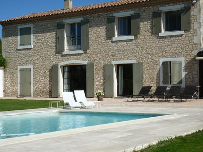Photo for 2 Bed & Breakfast in the quiet beautiful Mas Alpilles view, pool, garden, parking