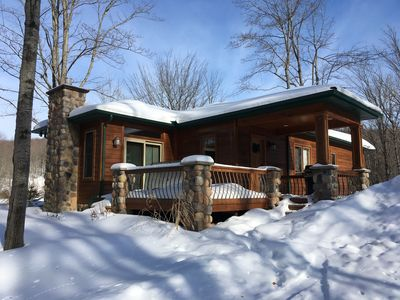 Photo for House in Ellicottville near Slopes. 30 acres overlooking pond. Summertime too!
