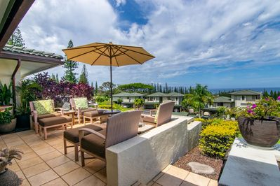 Stunning Kapalua and ocean views from a private and expansive lanai