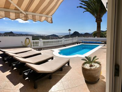 Photo for LUXURY VILLA W. BREATHTAKING OCEAN VIEW! UK TV, AIR CON, WI-FI & PING PONG TABLE
