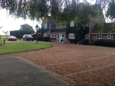 New Inn House set in its own grounds, in and out drive, lots of off road parking
