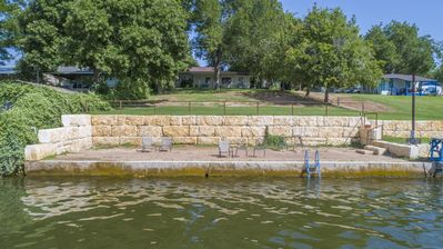 Photo for Hillside House with a private porch overlooking Lake LBJ