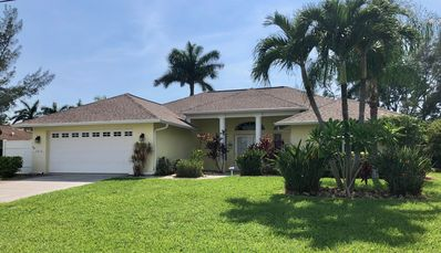 Photo for 3 bedroom w/3 full Bathrooms! Heated Pool Home on a Canal with Western Exposure
