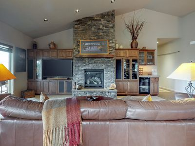Photo for NEW LISTING! Updated home w/ a private hot tub, stunning deck views, & fire pit