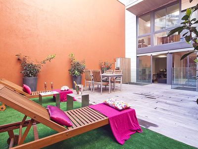 Photo for Renovated apartment, private terrace and pool in the center for 8 pax - Free Wi-Fi